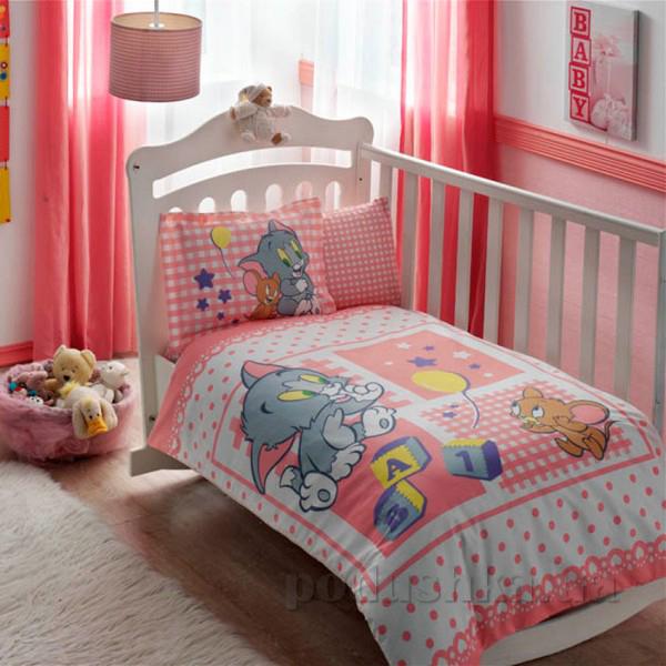 Постельное белье для детской кроватки TAC Tom and Jerry girl