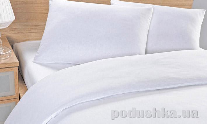 Постельное бельё для гостиниц Lotus белое без полос