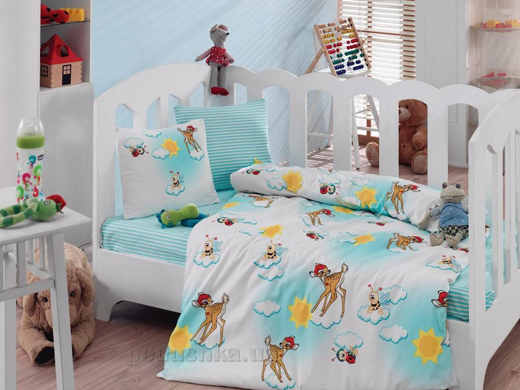 Постельное белье для новорожденных Cotton Box Bambis Turkuaz