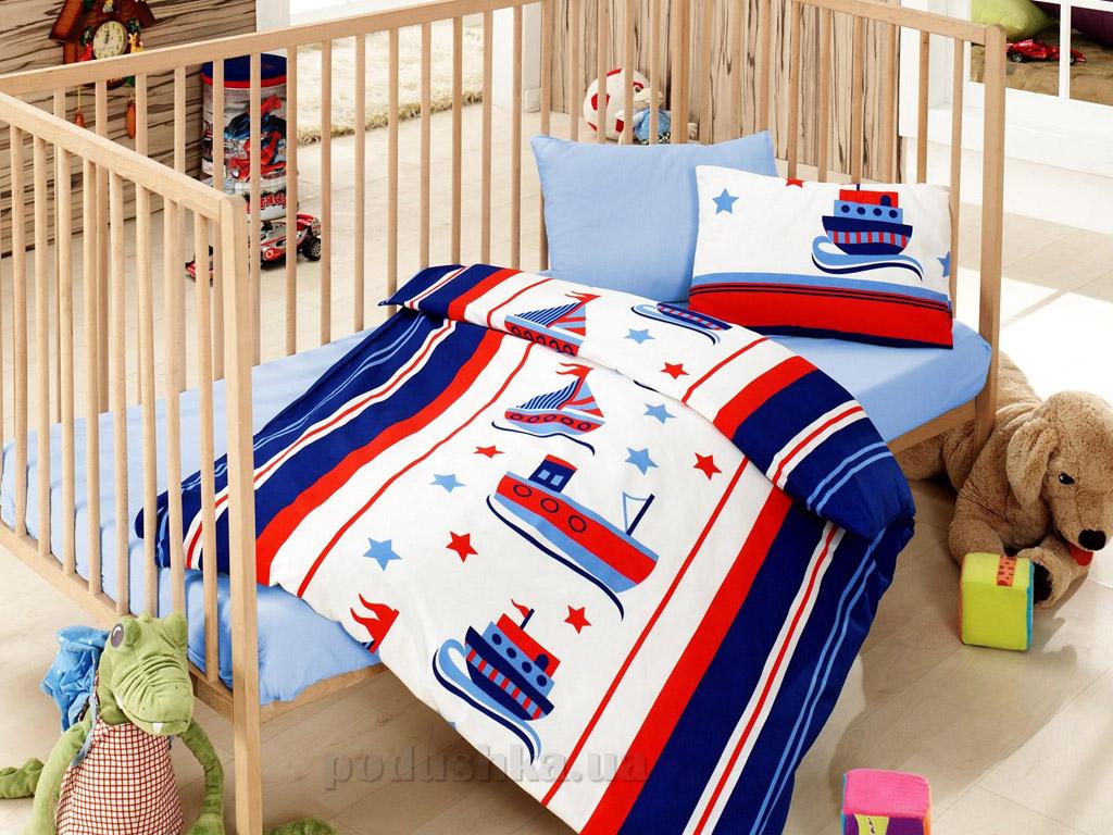 Постельное белье для новорожденных Cotton Box Denizci mavi
