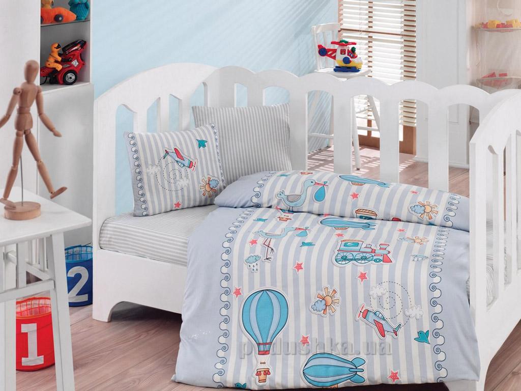 Постельное белье для новорожденных Cotton Box Gezgin mavi