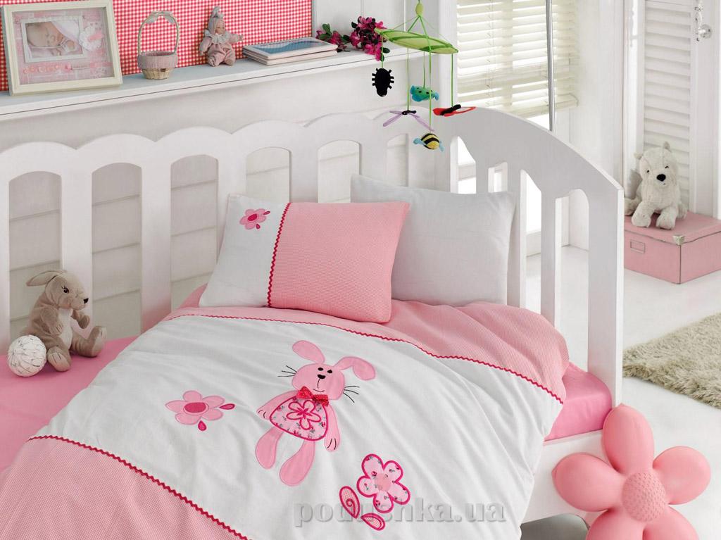 Постельное белье для новорожденных Cotton Box Minik tavsan с вышивкой