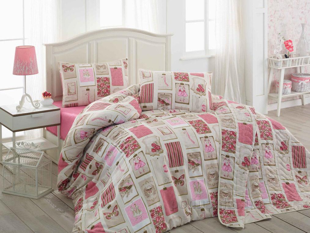 Постельное белье Eponj Ekol темно-розовое