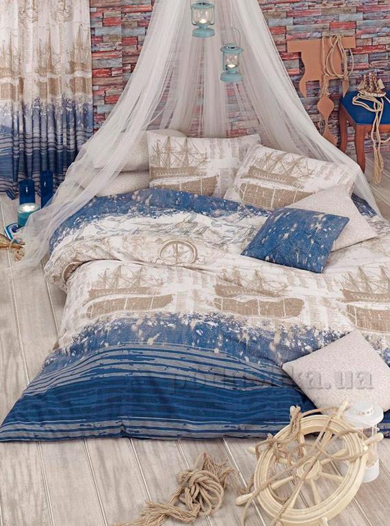 Постельное белье Eponj Pusula голубое