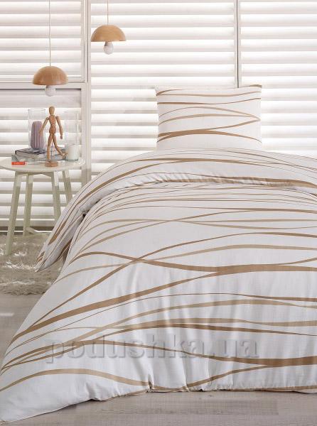 Постельное белье Eponj сатин Afro kream Полуторный комплект  Eponj