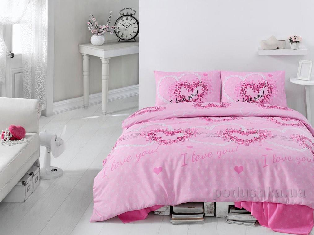 Постельное белье Eponj Sueno розовое