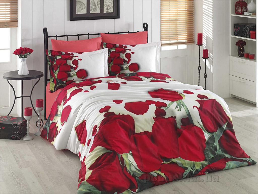 Постельное белье Hobby 3D Poplin Isabella красное