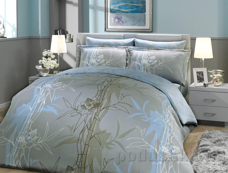 Постельное белье Hobby Bamboo Alize голубое