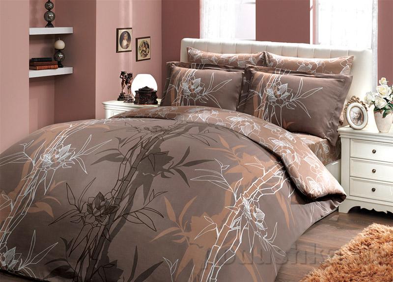 Постельное белье Hobby Bamboo Alize коричневое