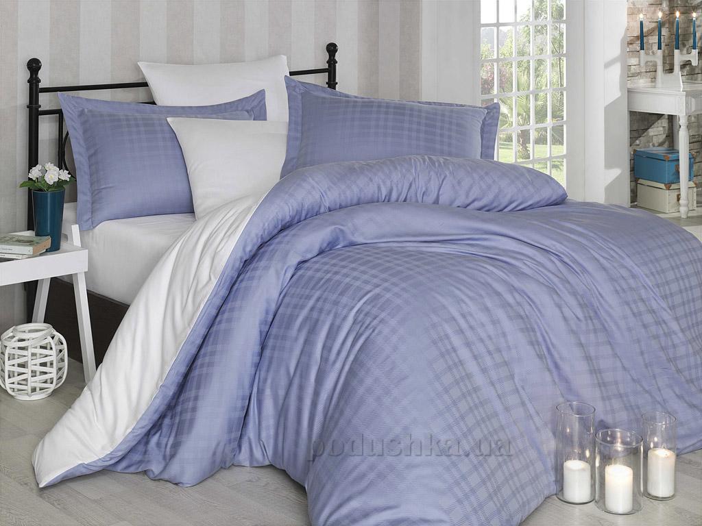 Постельное белье Hobby Diamond Ekose голубой-кремовый