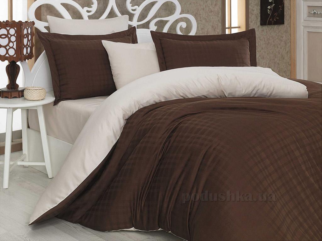 Постельное белье Hobby Diamond Ekose коричневый-кремовый