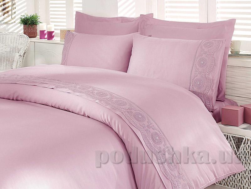 Постельное белье Hobby Elit Sateen Paisley темно-розовое