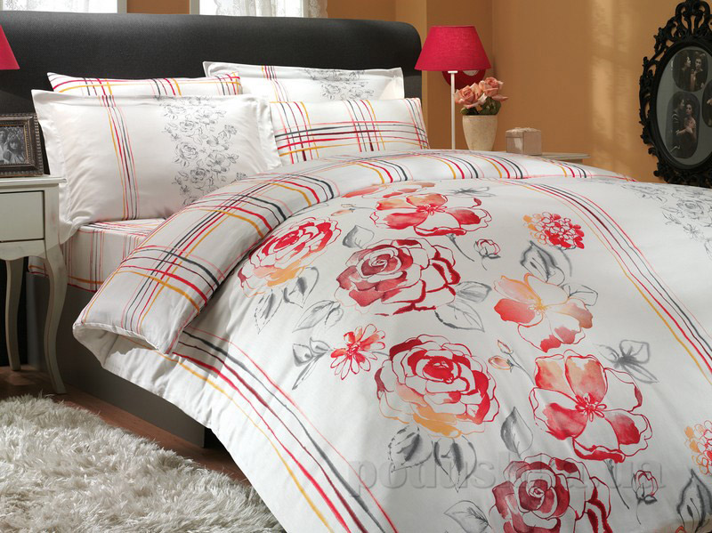 Постельное белье Hobby Exclusive Sateen Arabella красный