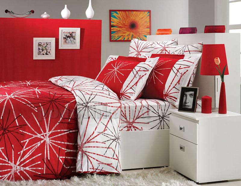 Постельное белье Hobby Exclusive Sateen Mikado красный