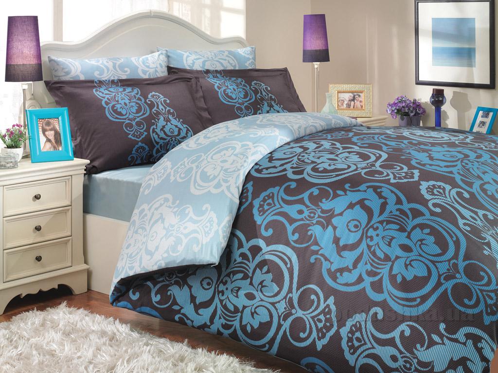 Постельное белье Hobby Exclusive Sateen Monart голубое