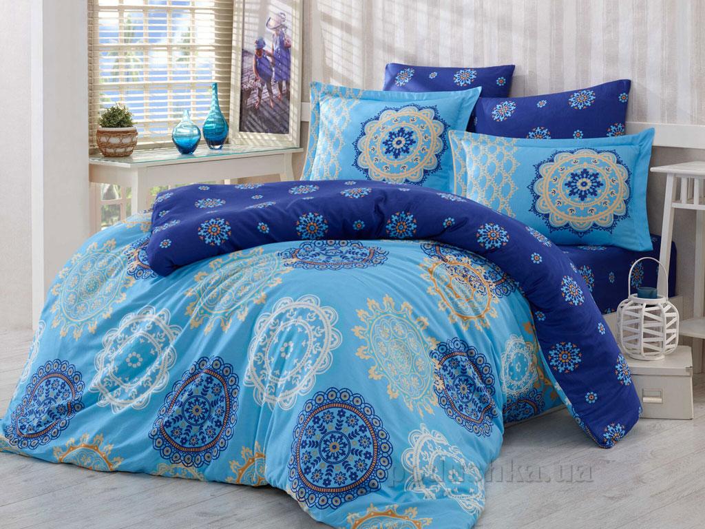 Постельное белье Hobby Exclusive Sateen Ottoman голубое