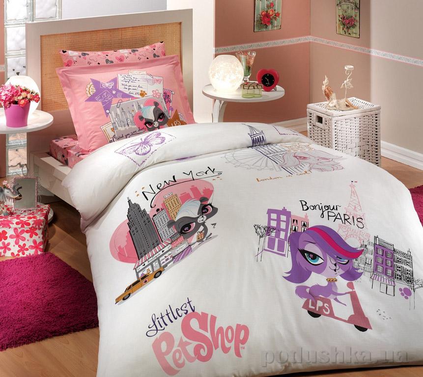 Постельное белье Hobby License Ranforce Littlest Pet Shop розовое