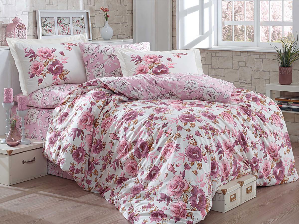 Постельное белье Hobby Poplin Alessia темно-розовое