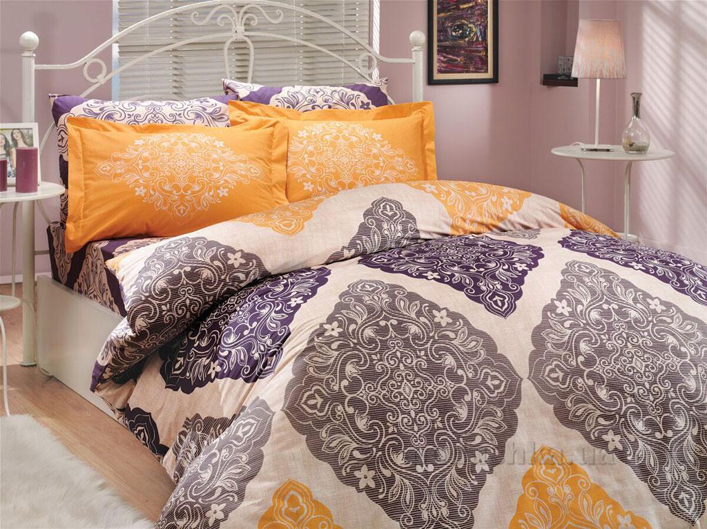 Постельное белье Hobby Poplin Amanda фиолетовое