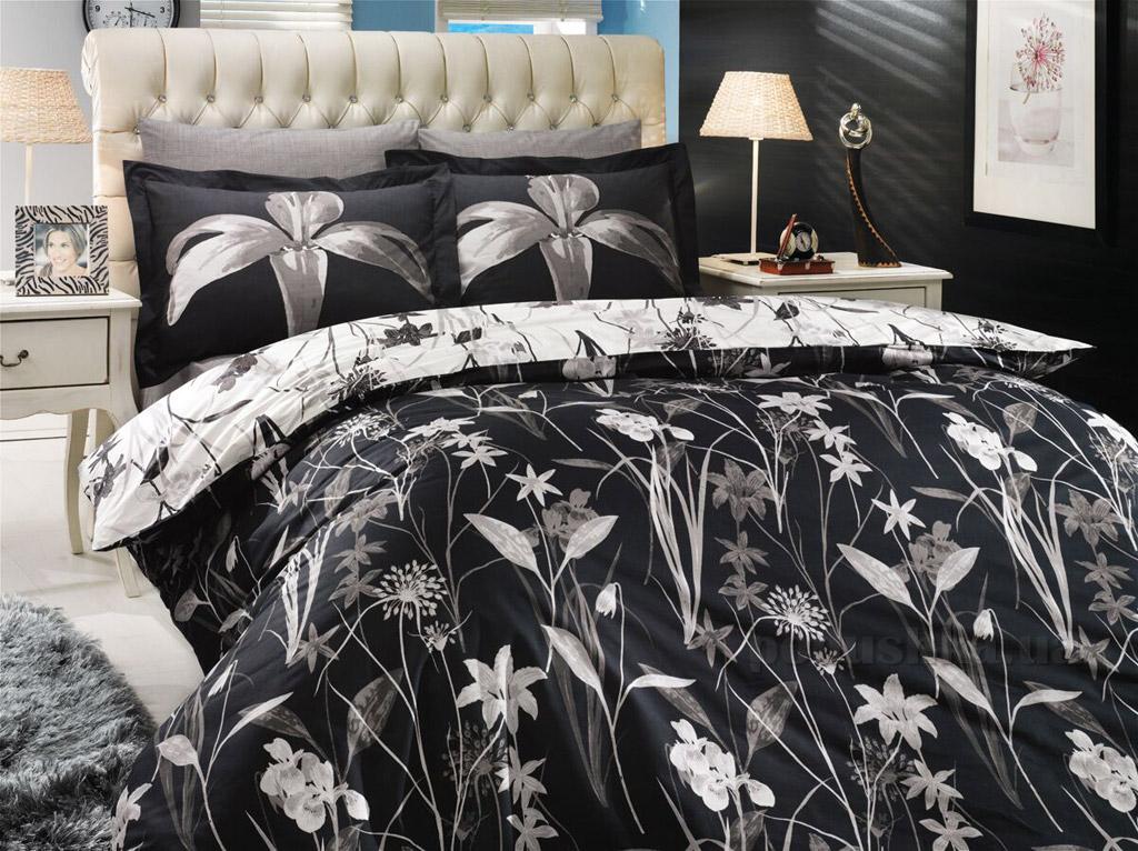 Постельное белье Hobby Poplin Clarinda черное