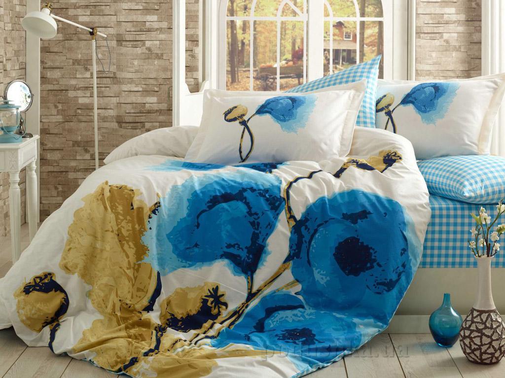 Постельное белье Hobby Poplin Miray голубое