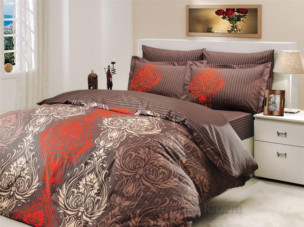 Постельное белье Hobby Poplin Royal коричневое