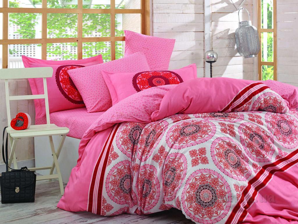Постельное белье Hobby Poplin Silvana розовое