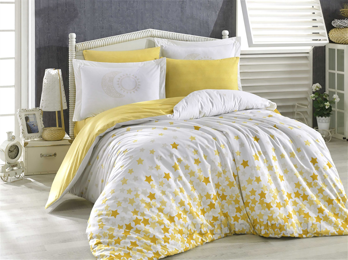 Постельное белье Hobby Poplin Stars желтый