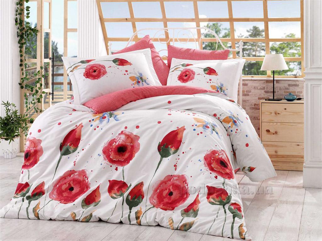 Постельное белье Hobby Poplin Veronika красное