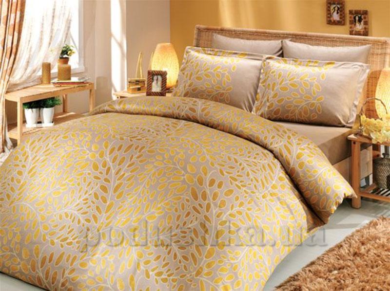 Постельное белье Hobby Premium Sateen Caroline золотистый