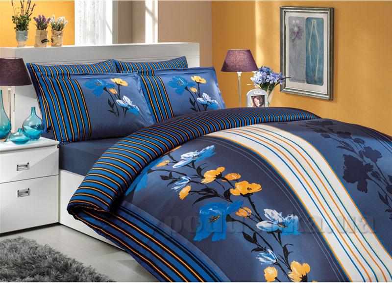 Постельное белье Hobby Premium Sateen Wendy синий