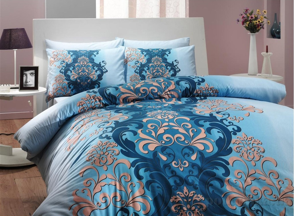 Постельное белье Hobby Ranforce Almeda голубой