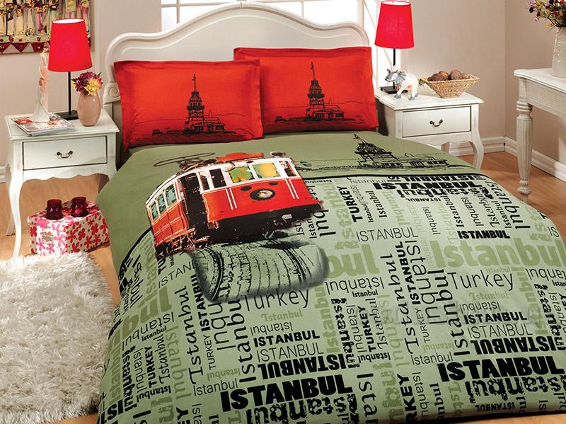 Постельное белье Hobby Sateen Deluxe Istanbul-1 красное