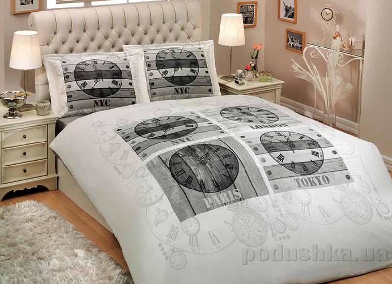Постельное белье Hobby Sateen Deluxe World Clock белое