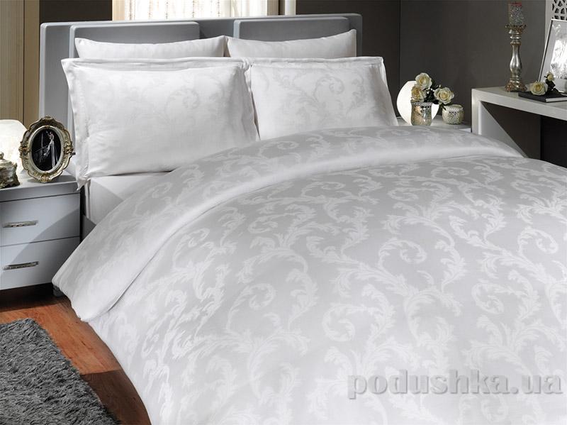 Постельное белье Hobby Tencel Flower белое