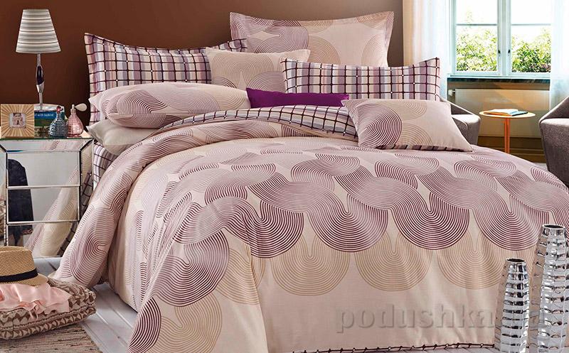 Постельное белье Home line Авелина фиолетовое
