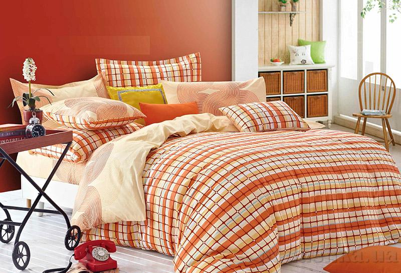 Постельное белье Home line Авелина оранжевое