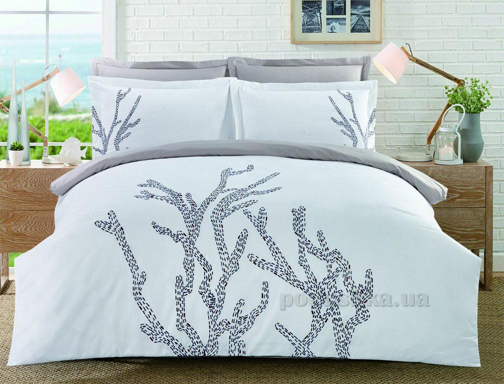 Постельное белье Home line сатин с вышивкой Кораллы