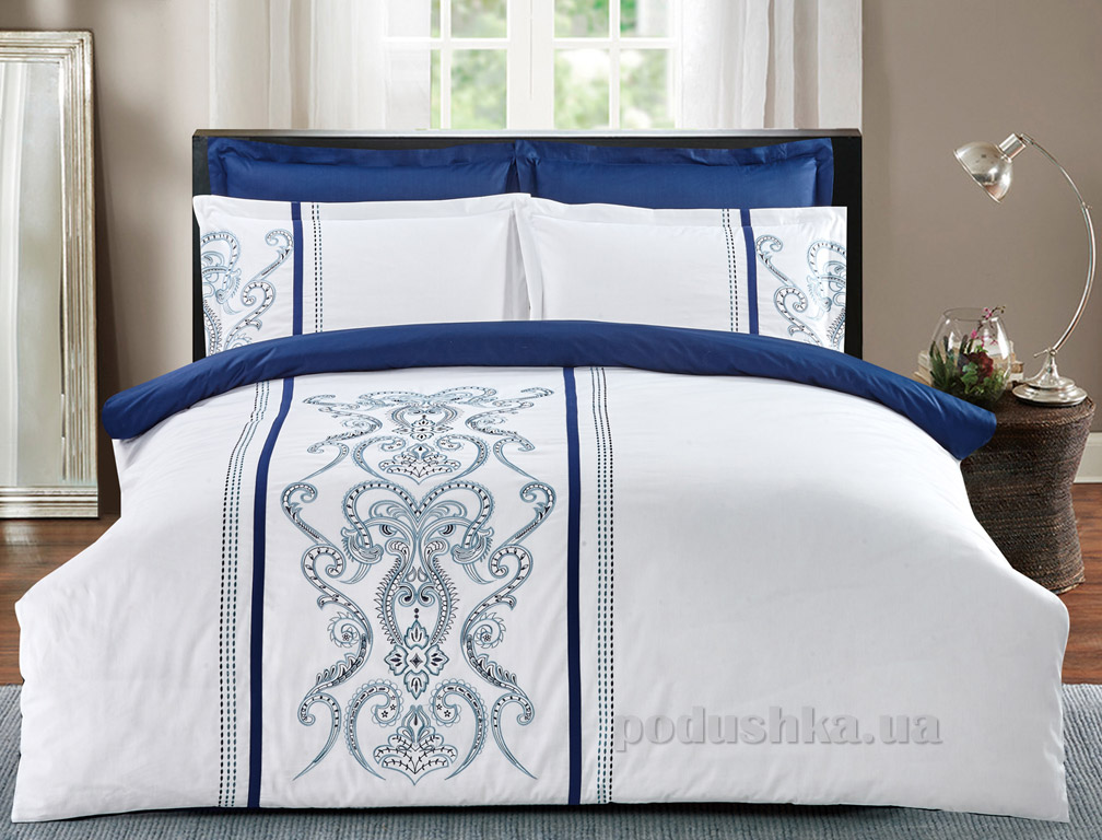 Постельное белье Home line сатин с вышивкой Византия
