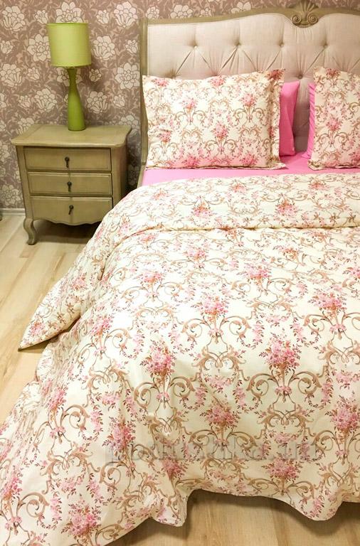 Постельное белье Lotus premium ранфорс Caroline Двуспальный евро комплект  Lotus
