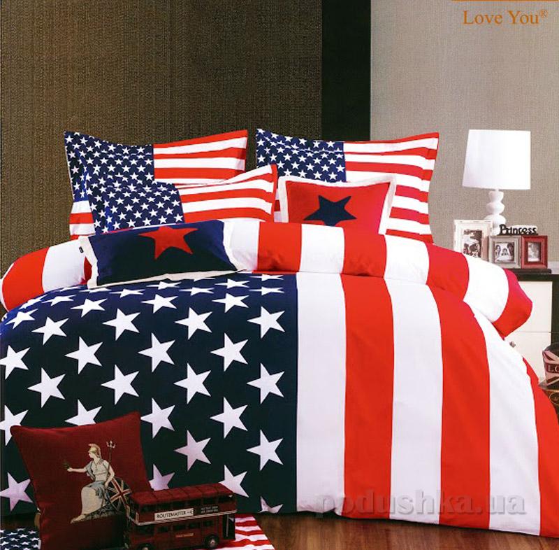 Постельное белье Love You Америка