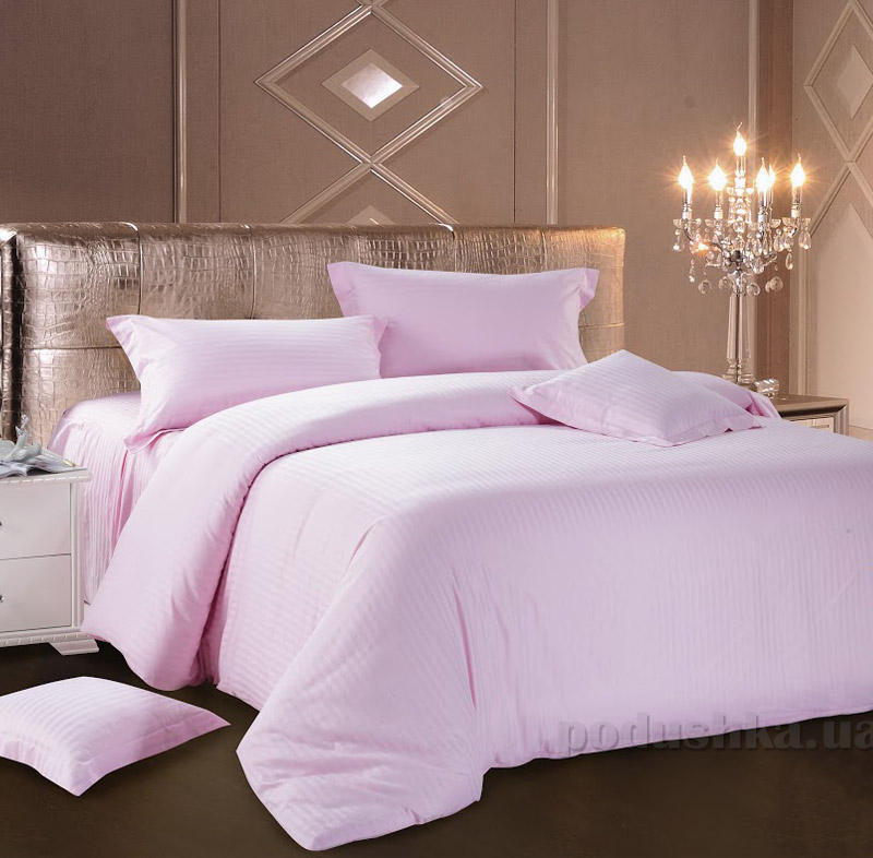Постельное белье Love You страйп-сатин розовое