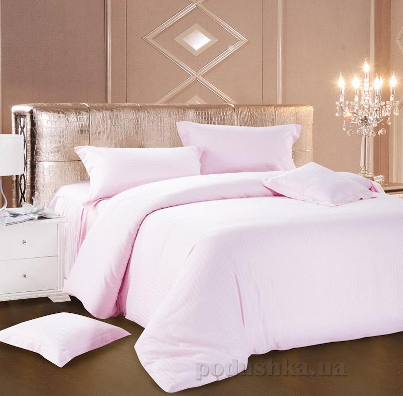 Постельное белье Love You страйп-сатин светло-розовое