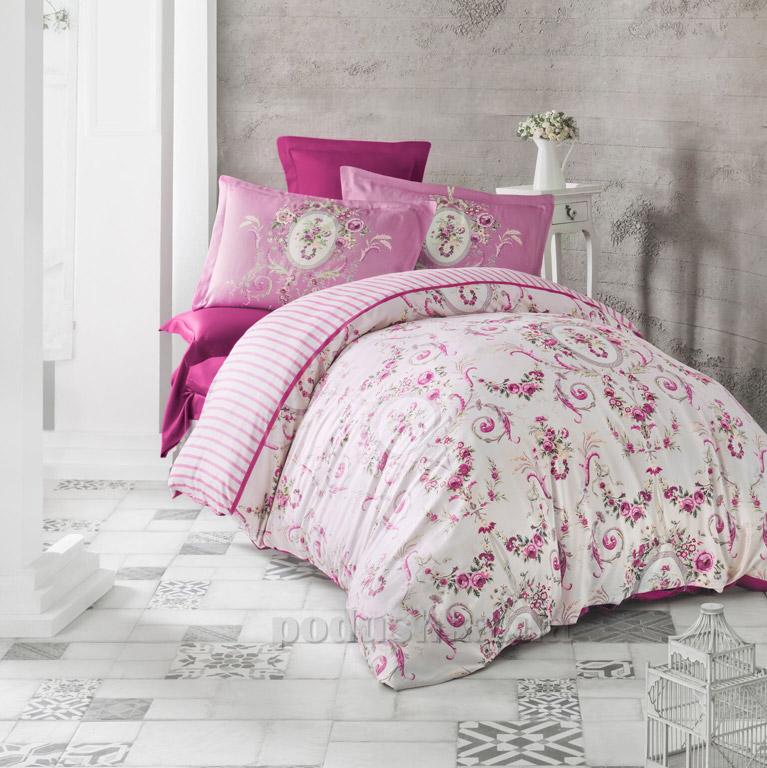 Постельное белье Luoca Patisca Estave темно-розовое