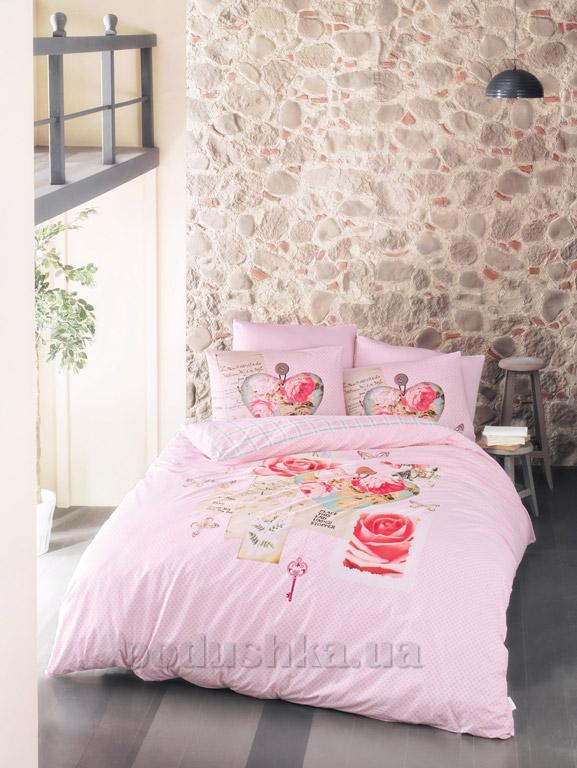 Постельное белье Luoca Patisca ранфорс Lamore розовое