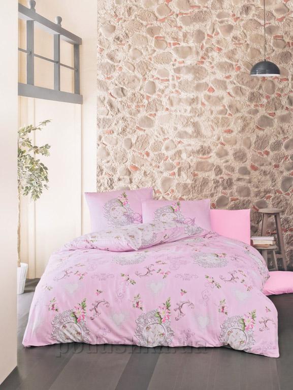 Постельное белье Luoca Patisca ранфорс Melory розовое