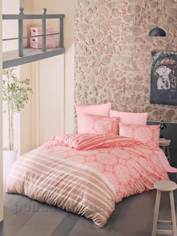 Постельное белье Luoca Patisca ранфорс Morbido розовое