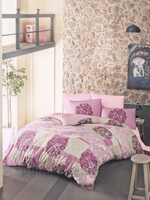 Постельное белье Luoca Patisca ранфорс Ottorino розовое
