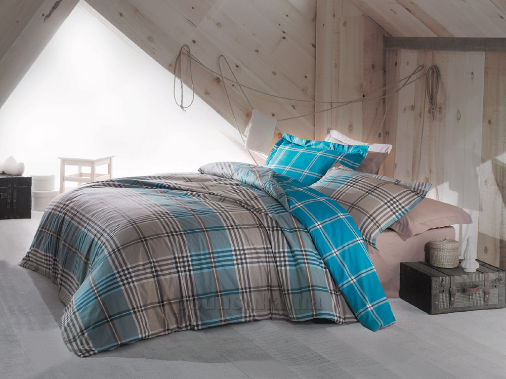 Постельное белье Marie Mex бязь Ceress голубое Полуторный комплект  Marie Mex