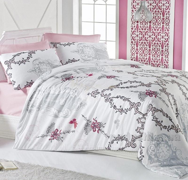 Постельное белье Nazenin Loura ранфорс винтаж розовый 2713